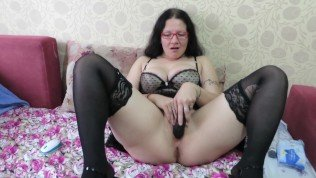 deep blowjob, double penetration with a sex toy