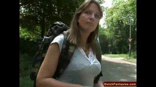 Fucking A Dutch MILF In Holland Park