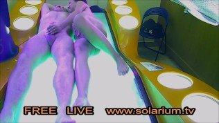 Real Couple Fuck on Public Solarium Live Voyeur Hidden Spy Cam