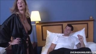 Sexy Milf Strokes A Young Dick