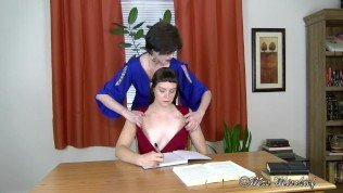 The Mortification of Belle – young intern stripped & fondled by milf boss